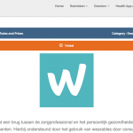 Wellmo is nominated for the Health App Award 2015 in Netherlands!
