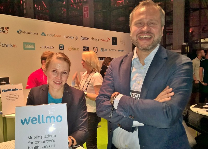 Wellmo's Tiia and Jari at Slush 2015