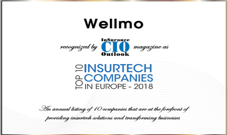 Best Rated Health Insurance Companies >> Wellmo One Of The Top 10 Insurtech Companies In Europe 2018